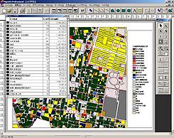 土地利用現況、集計結果表示例
